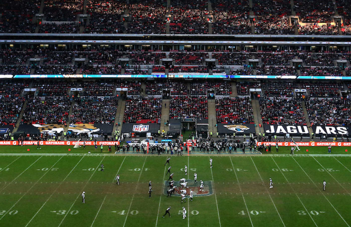 A general view inside the stadium during the NFL International Series.