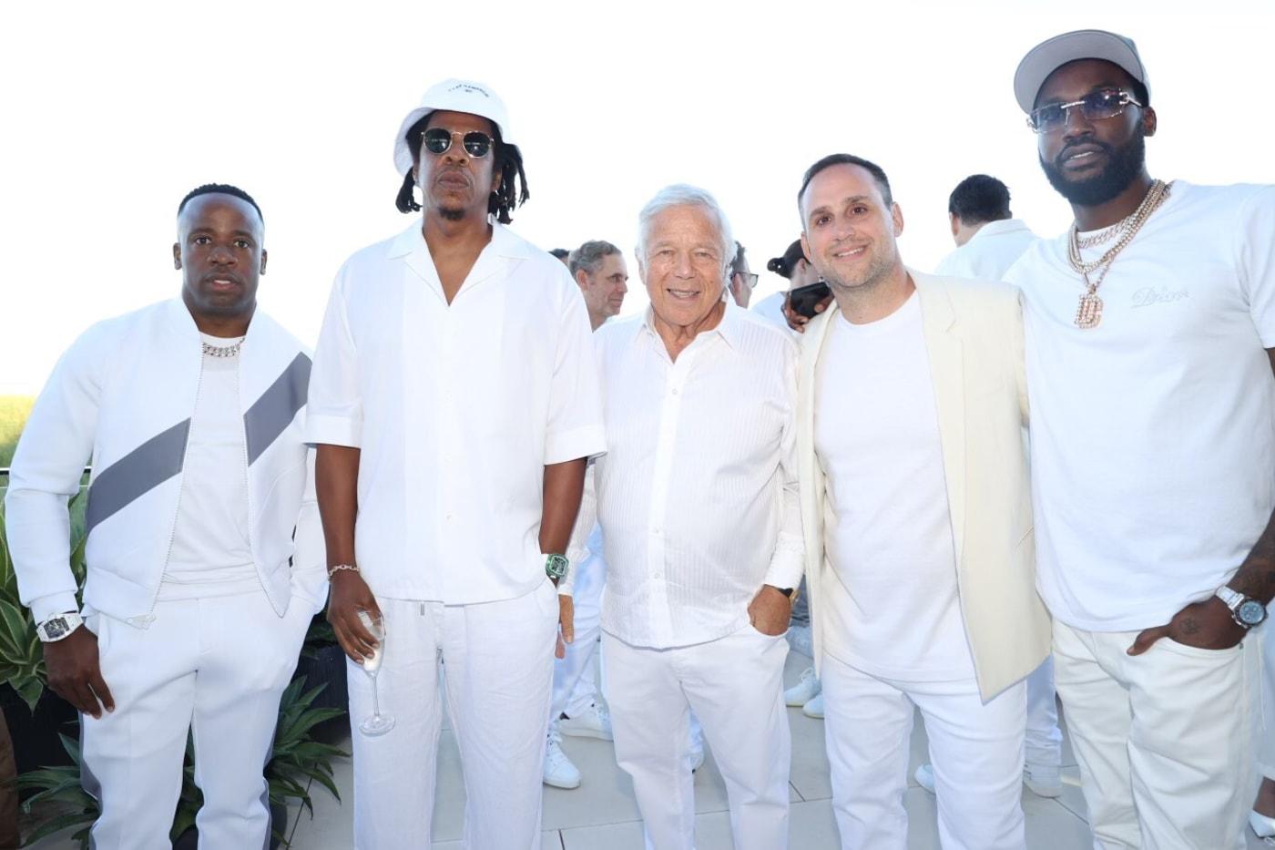 Yo Gotti, Jay-Z, Robert Kraft, Michael Rubin and Meek Mill