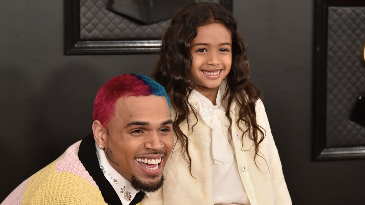 Chris Brown and Royalty Brown attend the 62nd Annual Grammy Awards