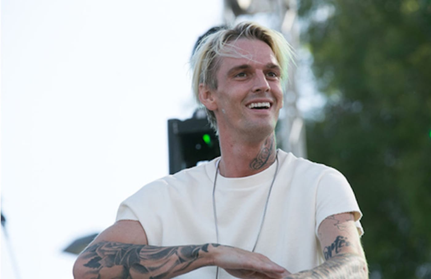 Aaron Carter attends the LA Pride Music Festival And Parade 2017.