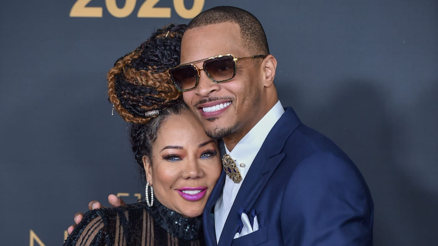 """Tameka """"Tiny"""" Cottle and T.I. attend the 51st NAACP Image Awards"""