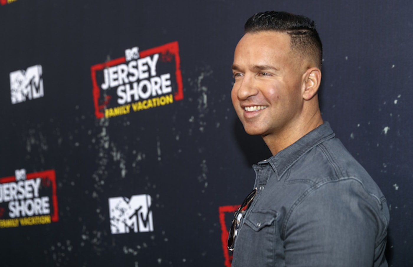 """Mike Sorrentino arrives at the """"Jersey Shore Family Vacation"""" Premiere Party."""