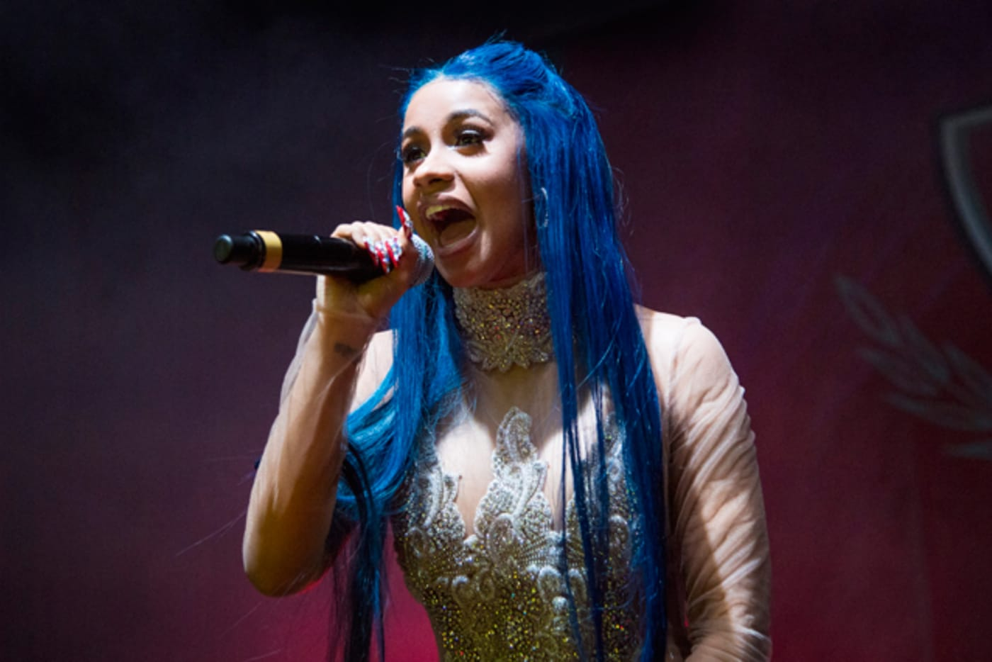 Cardi B performs at The Joy Theater