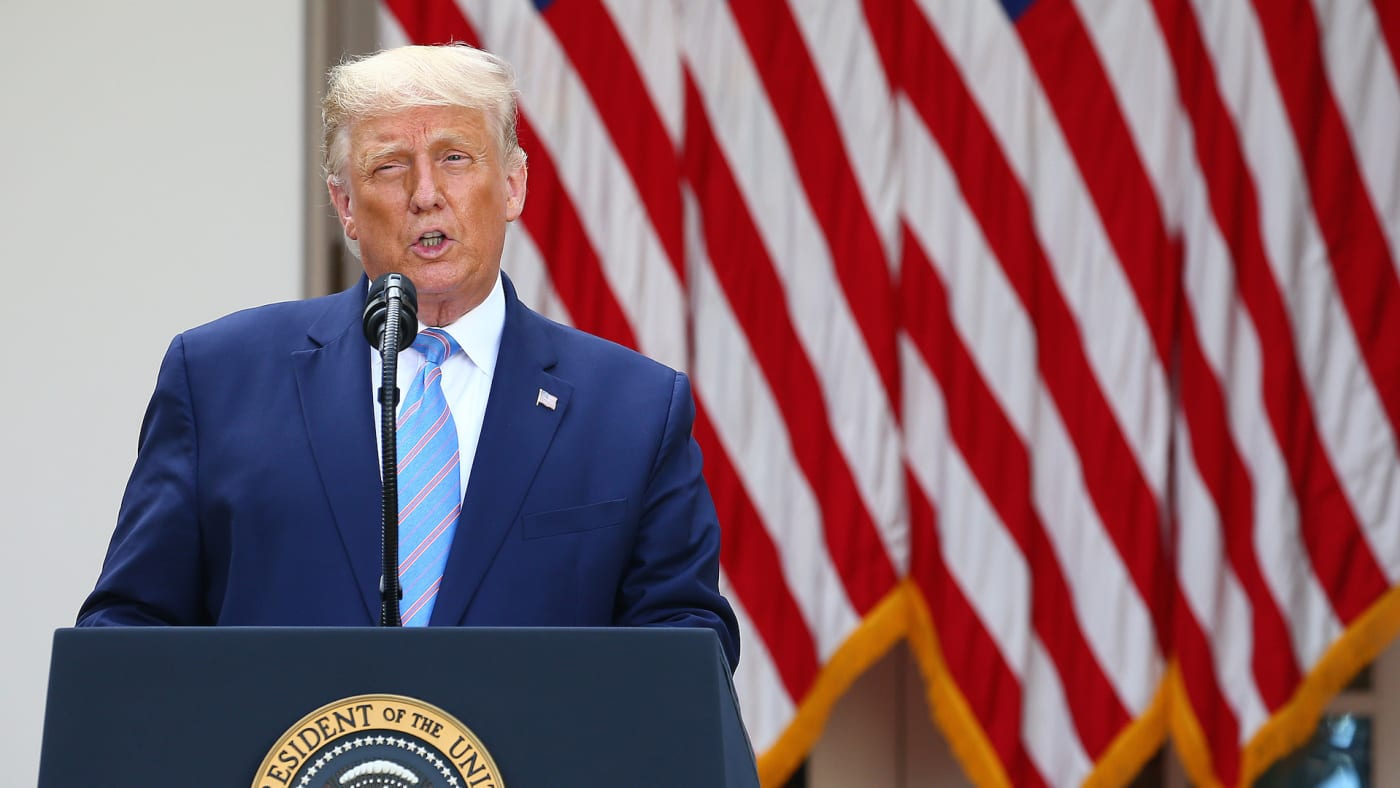 President Donald Trump delivers an update on the nations coronavirus testing