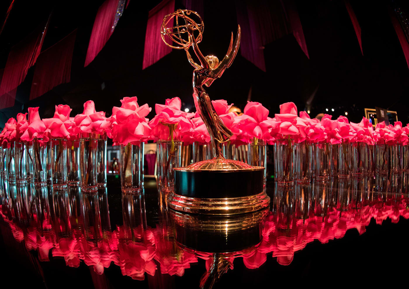 An Emmy statue at the 71st Emmy Awards Governors Ball press preview