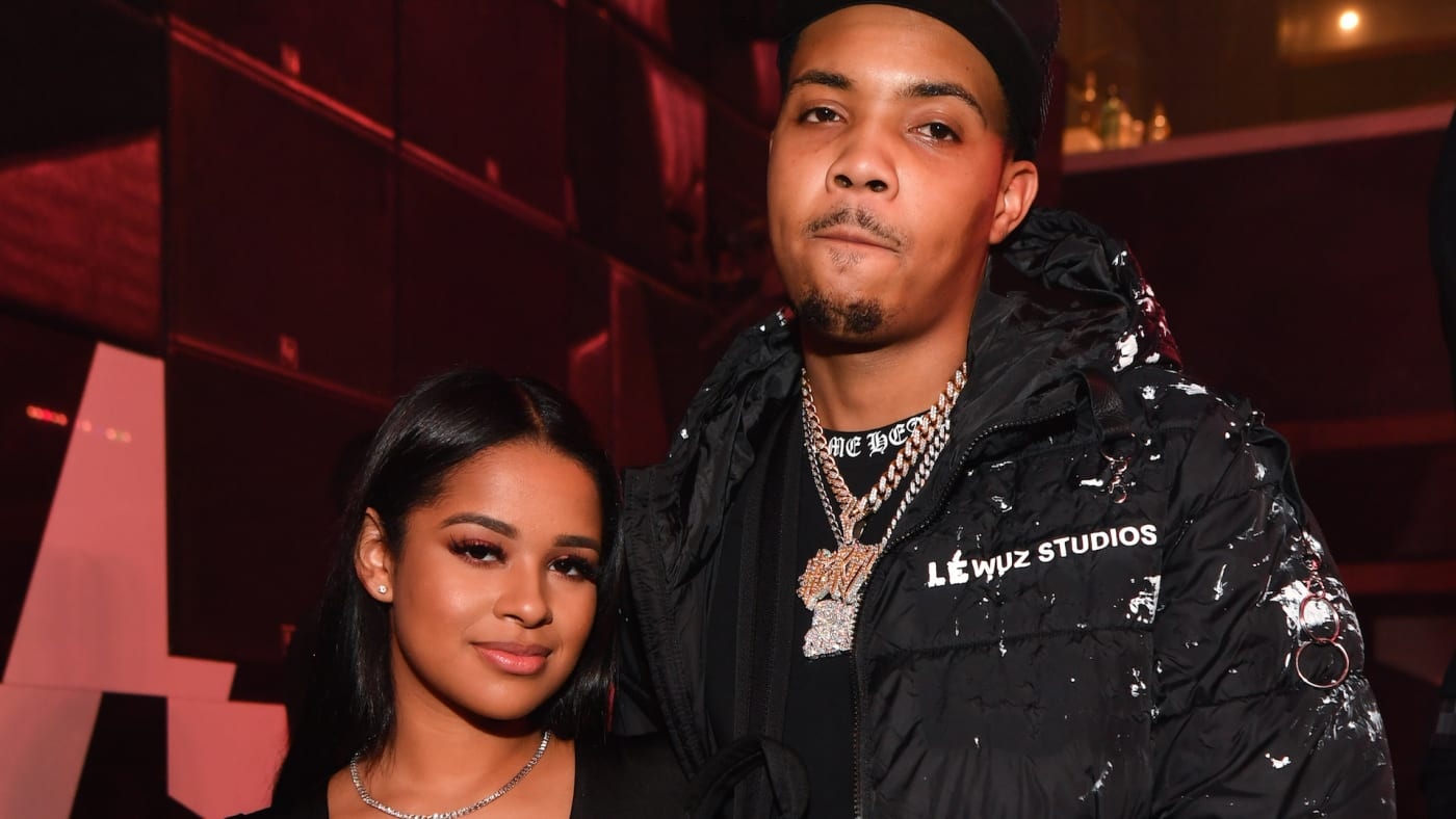 G Herbo and Taina Williams attend the All Black Birthday Celebration