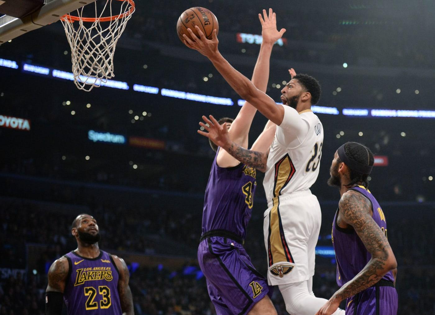 Anthony Davis Pelicans Lakers LeBron James 2018