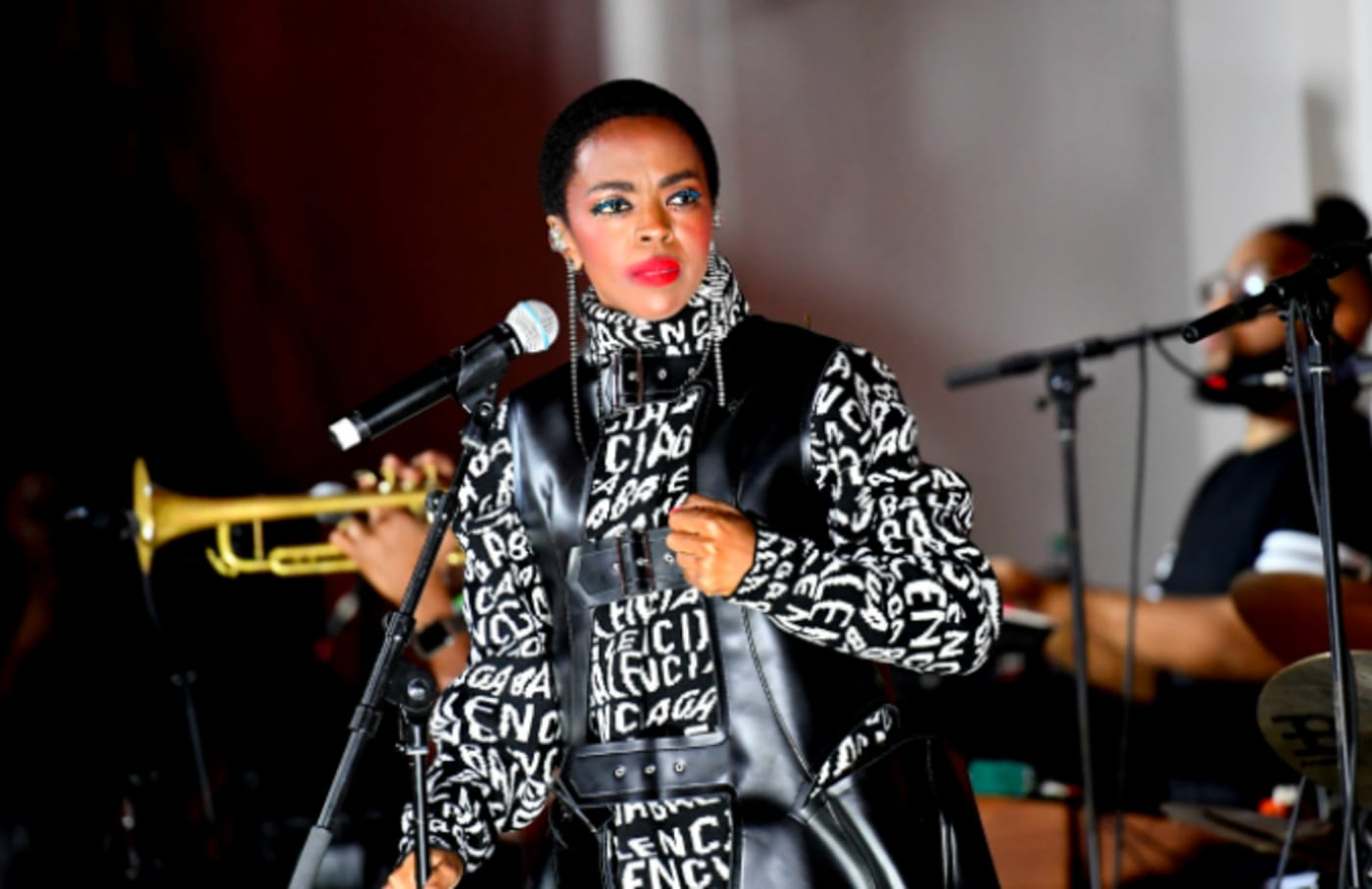 """Singer Lauryn Hill performs onstage during a """"Queen & Slim"""" screening"""