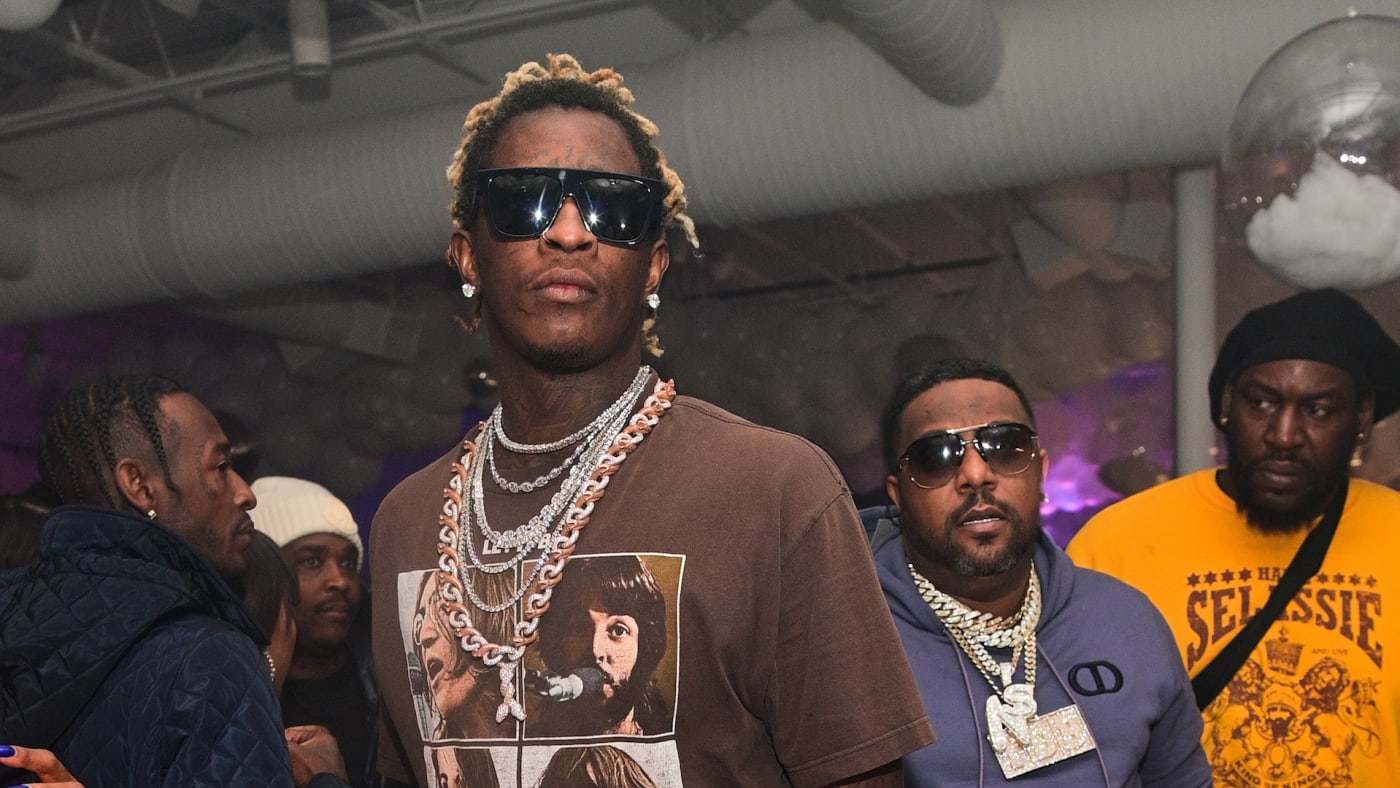 Young Thug attends Lil Baby's Ice Ball