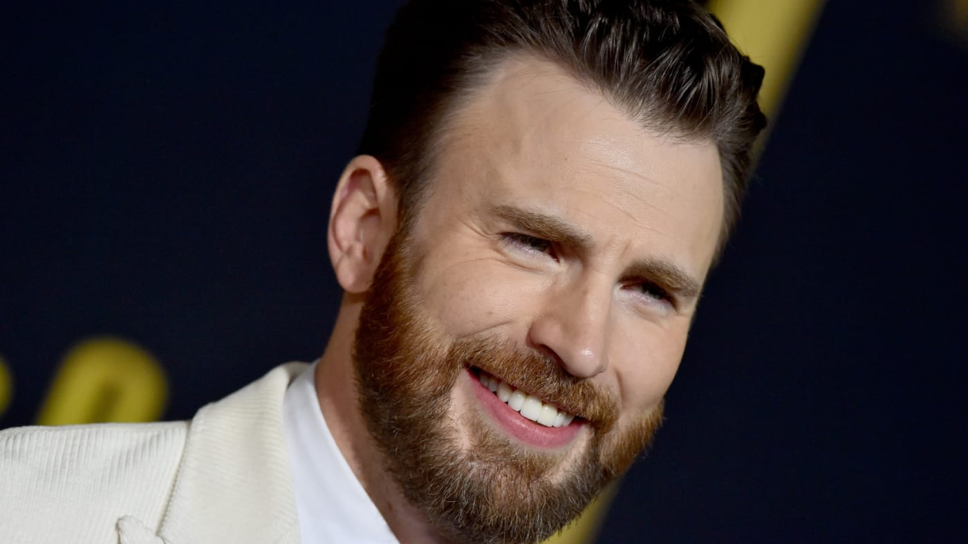 """Chris Evans attends the Premiere of Lionsgate's """"Knives Out."""""""