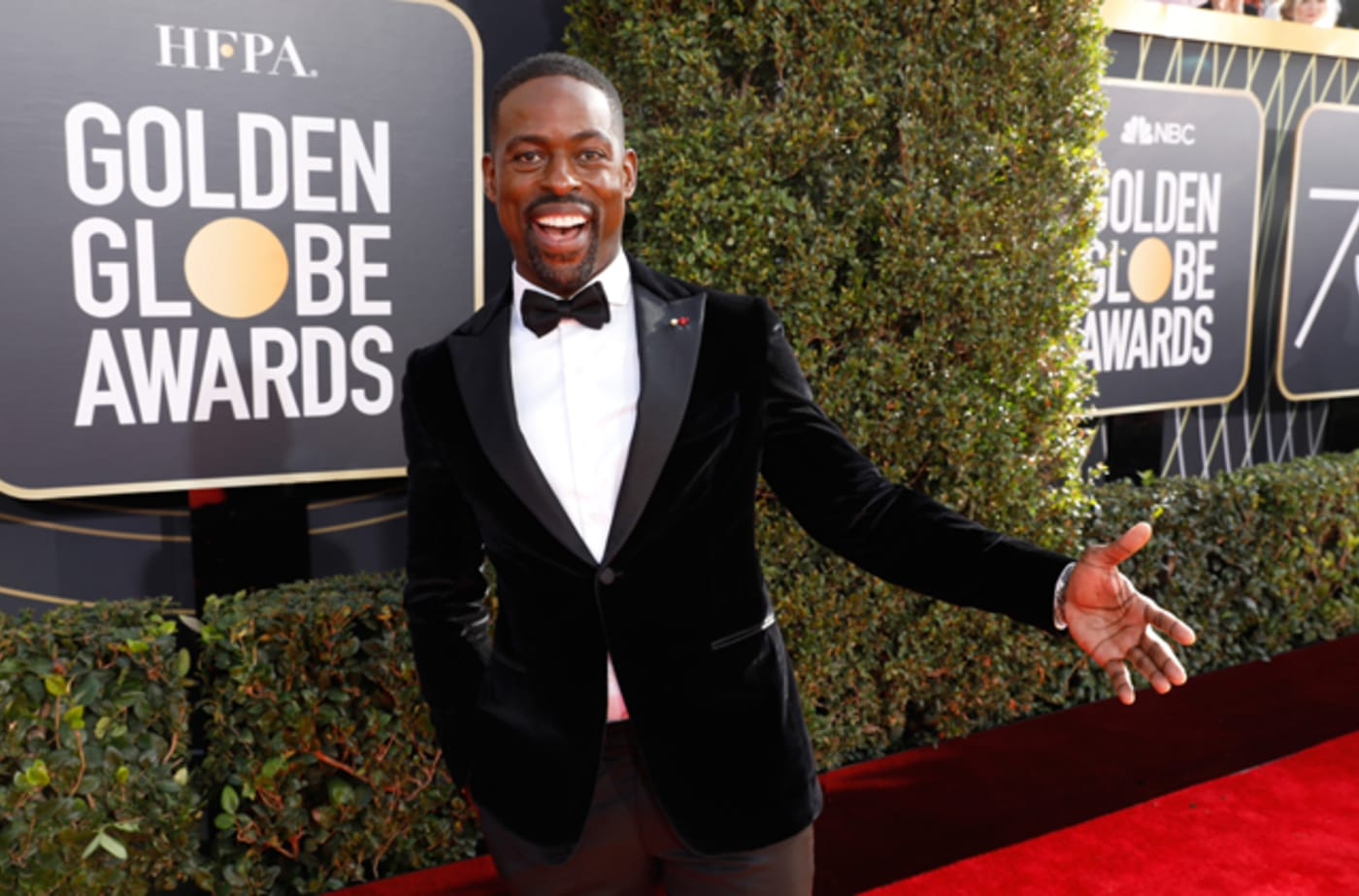 Sterling K. Brown on the Golden Globes 2018 red carpet