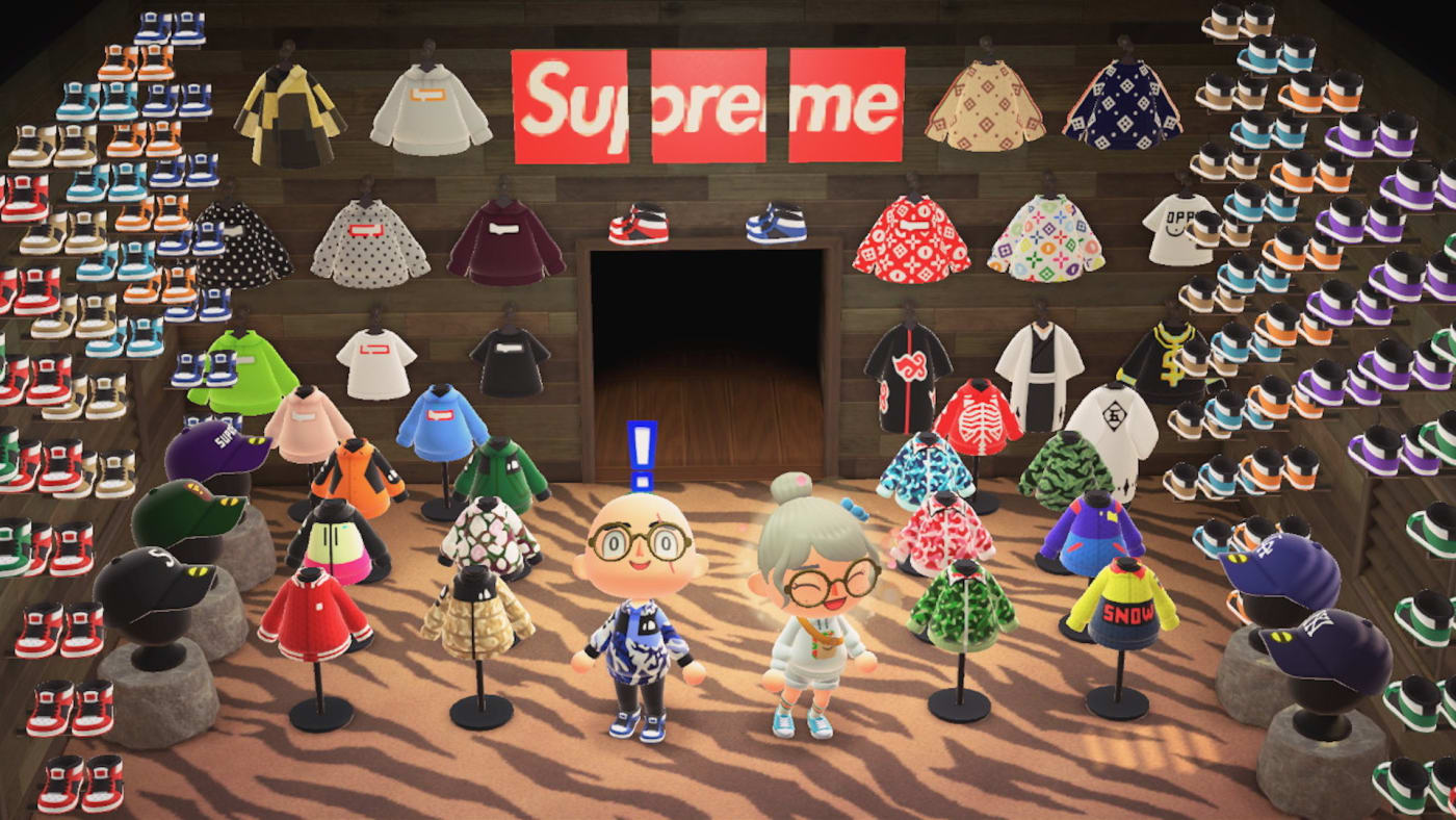 Custom Streetwear in Nintendo's Animal Crossing: New Horizons