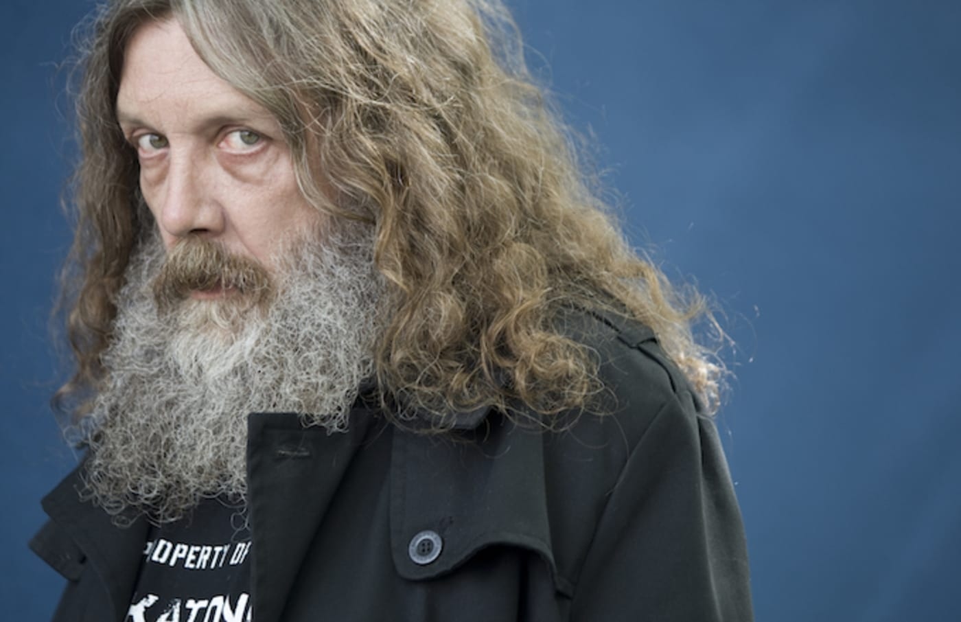 Alan Moore pictured at the Edinburgh International Book Festival.