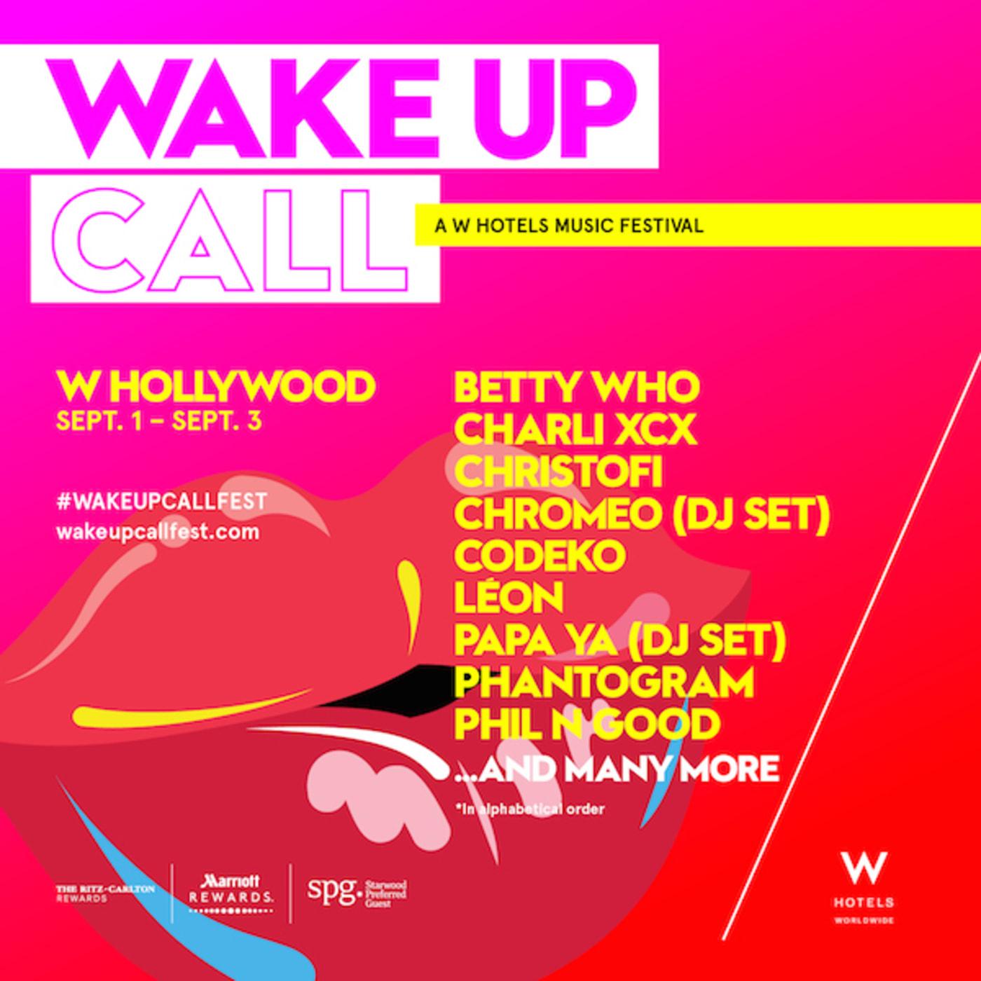W Hotel 'Wake Up Call'