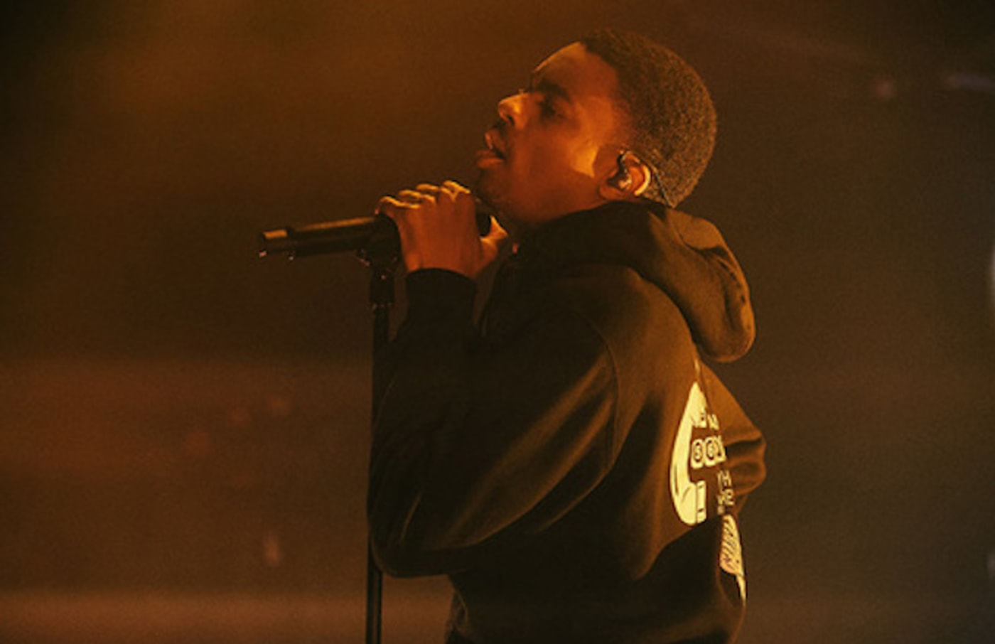 Vince Staples performs at concert.