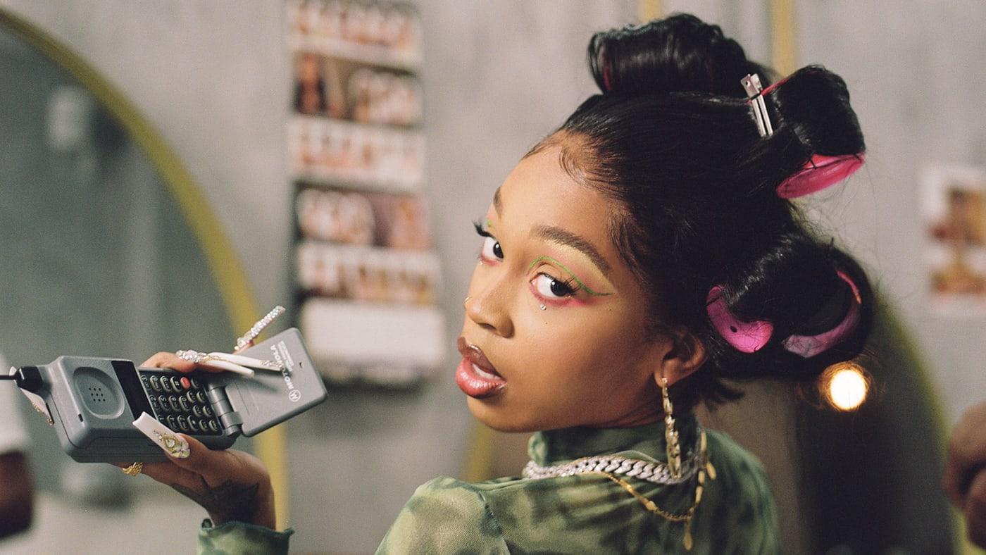 Toronto artist Ebhoni poses at hair salon for new EP X