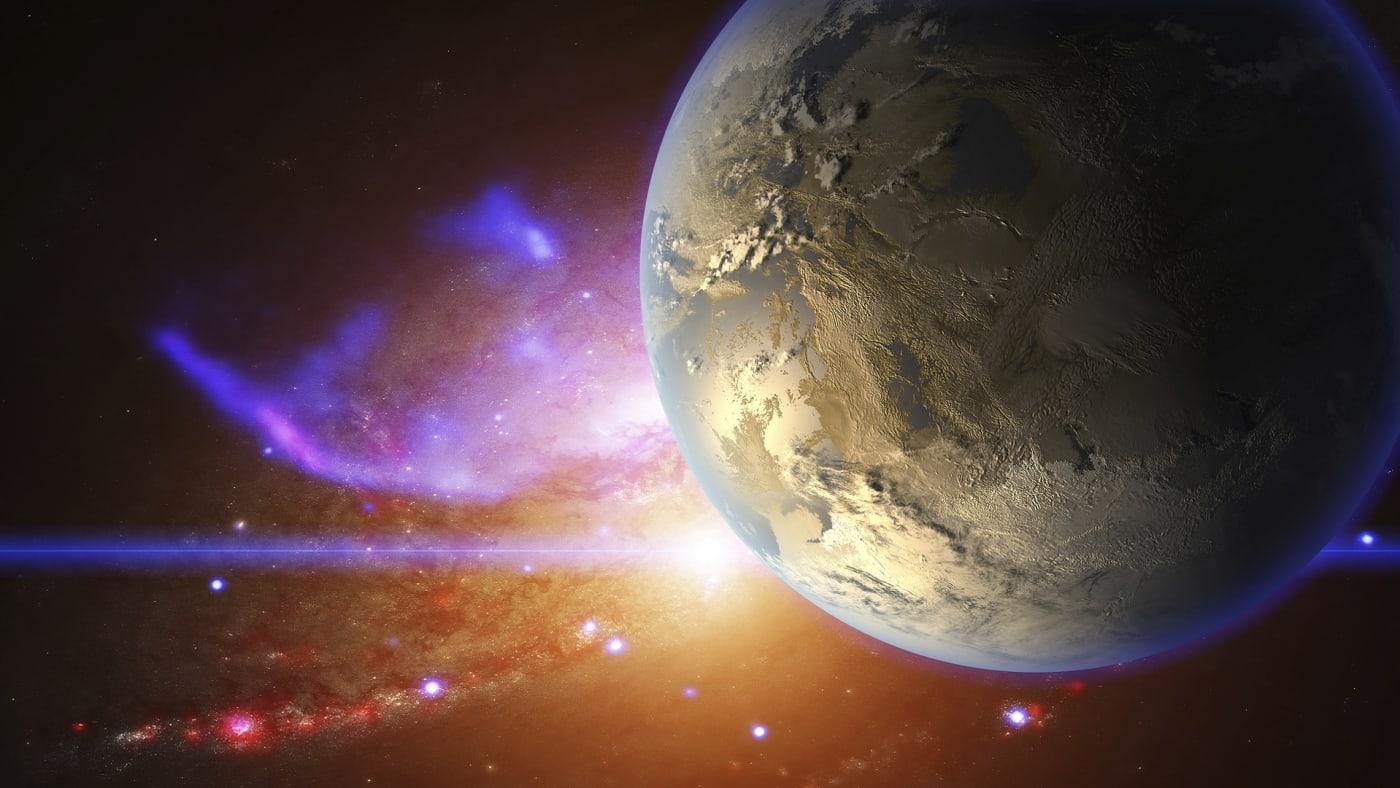 exoplanet and nebula