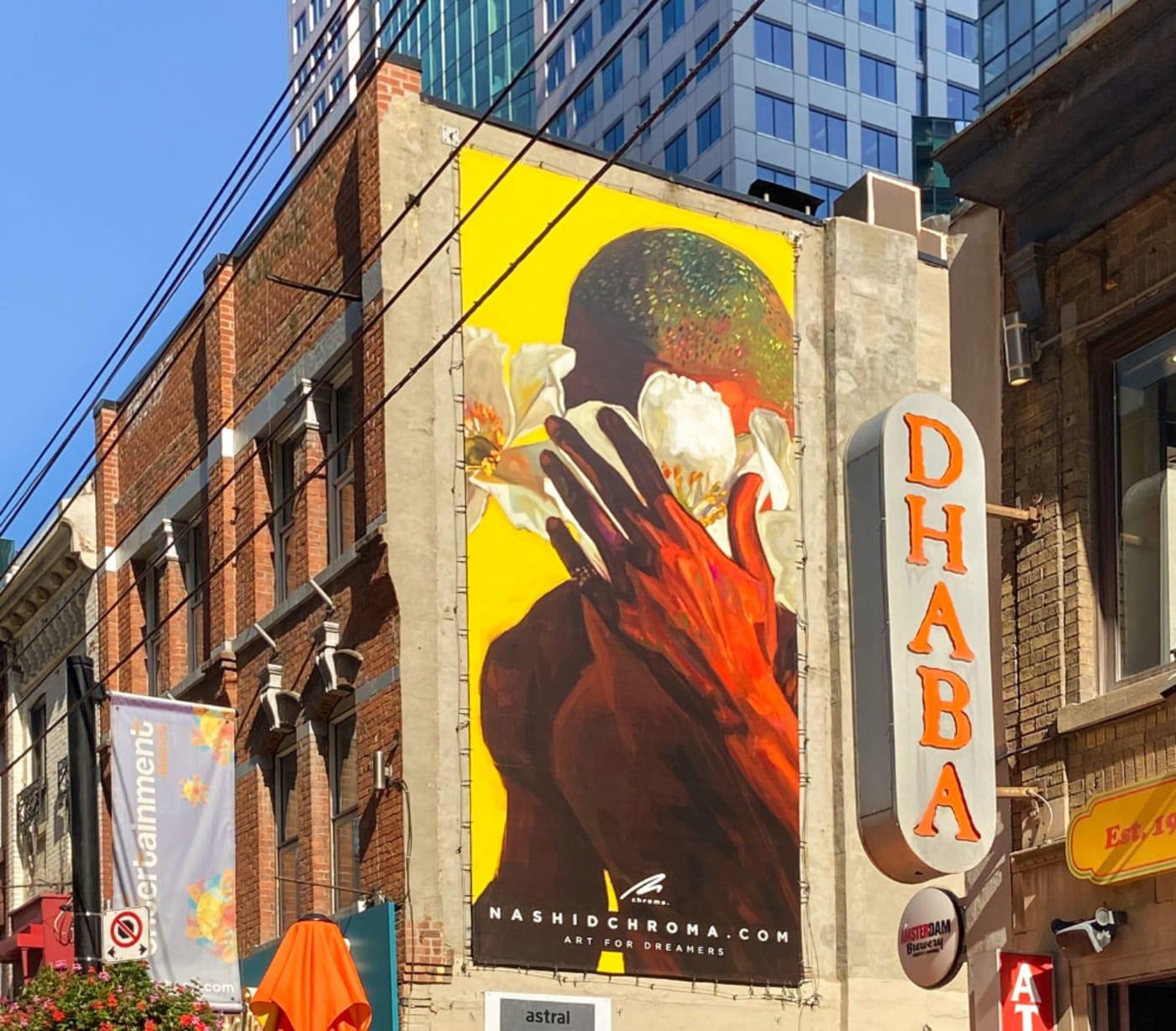 Nashid Chroma's Frank Ocean artwork on the side of a building