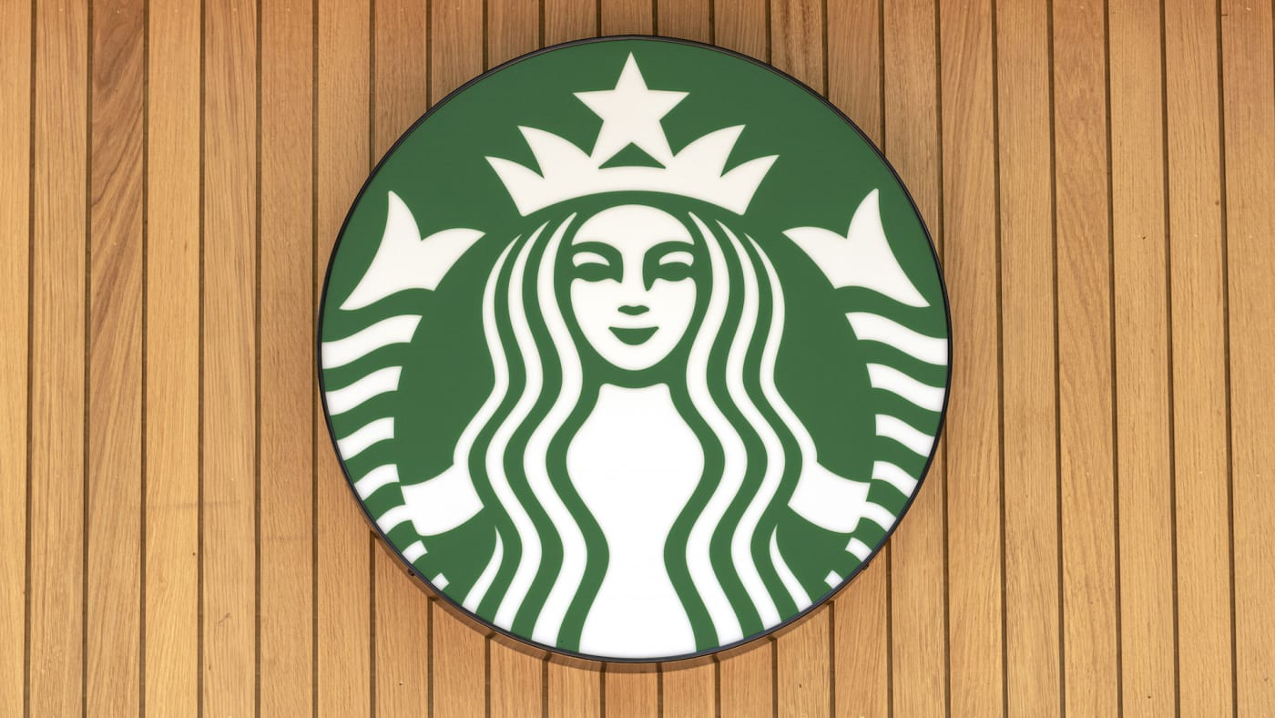Starbucks logo seen on one of their branches
