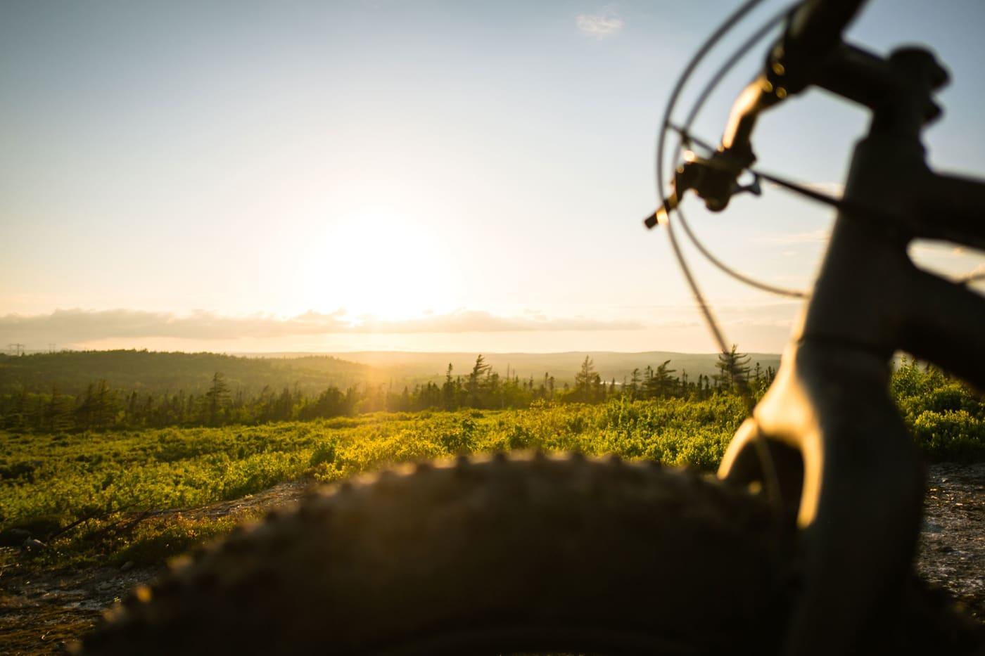 Riding a bike at Bayer's Lake, Halifax, Nova Scotia
