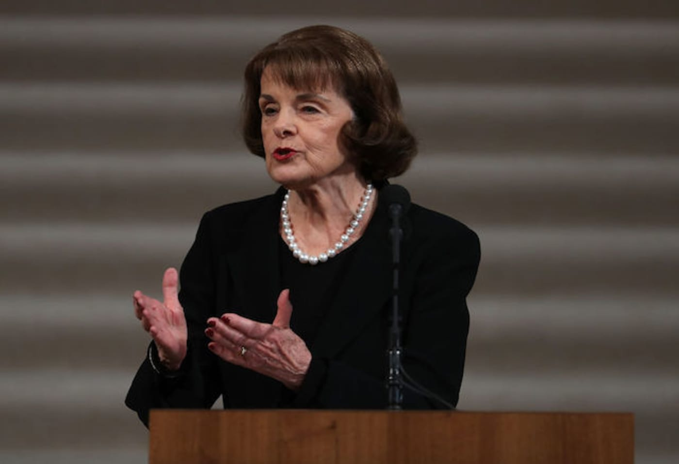 This is a picture of Dianne Feinstein.