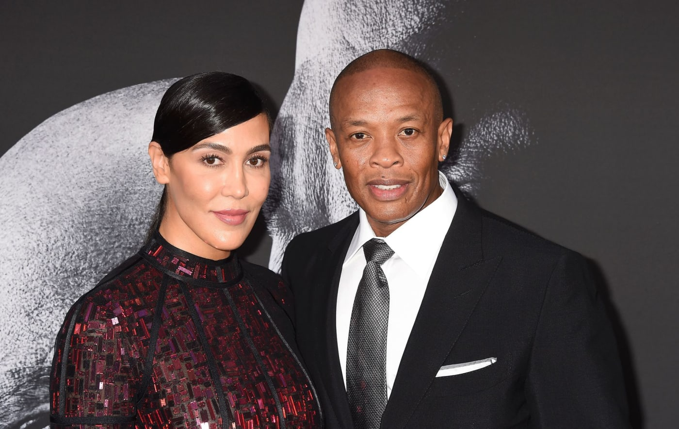 Dr Dre with wife Nicole Young