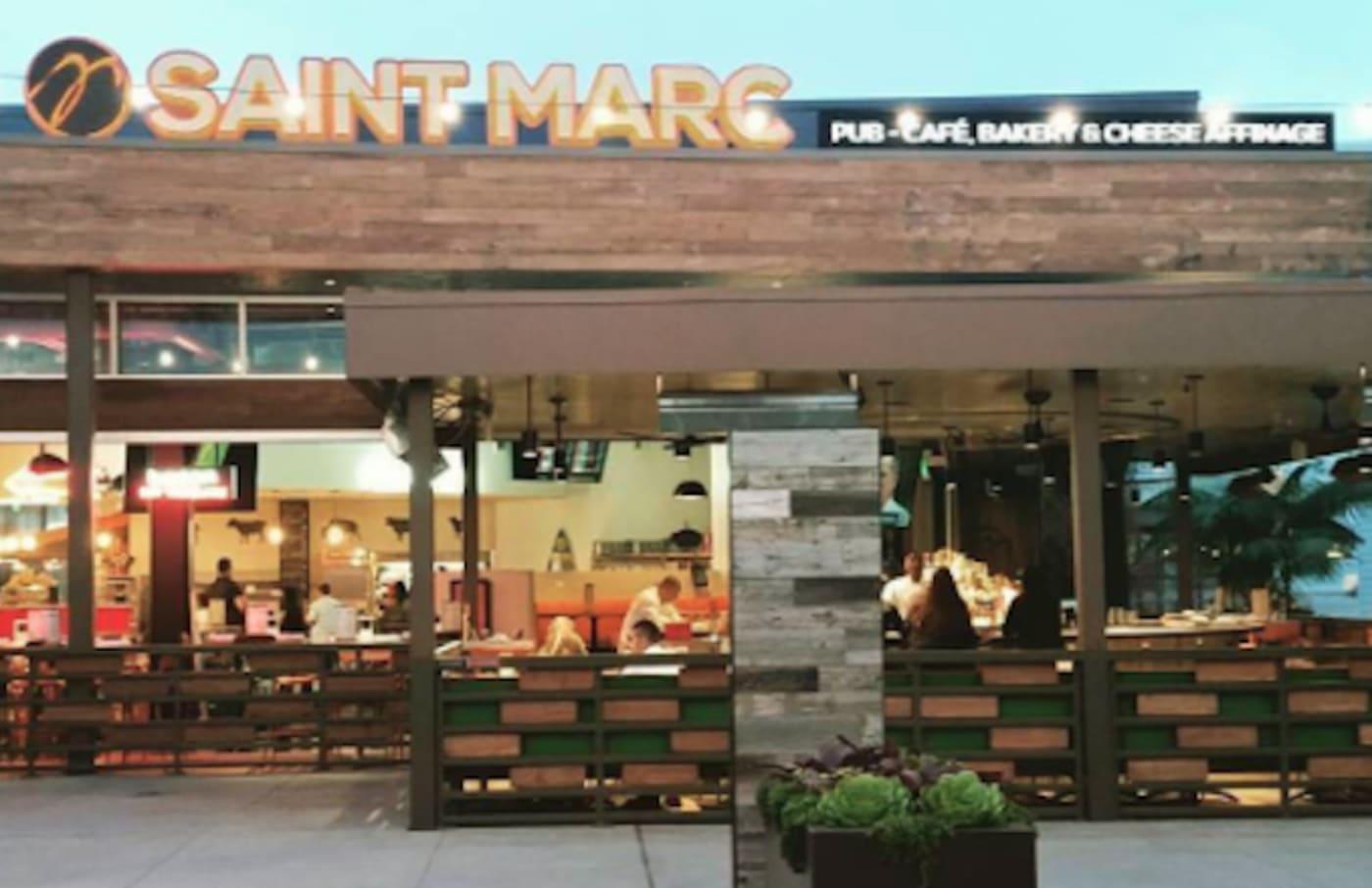 Picture of Saint Marc restaurant in California.