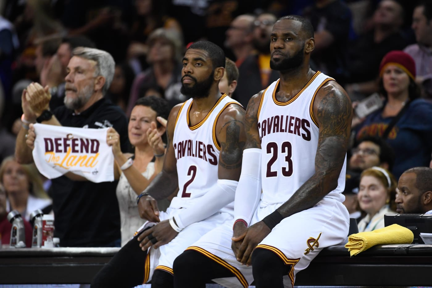 Kyrie Irving LeBron James Game 4 NBA Finals 2017