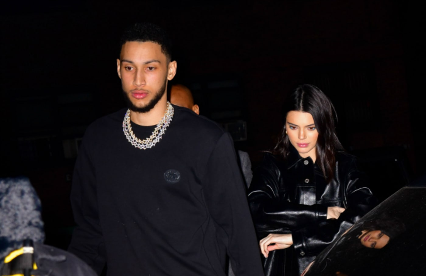 Ben Simmons and Kendall Jenner arrive to Marquee New York