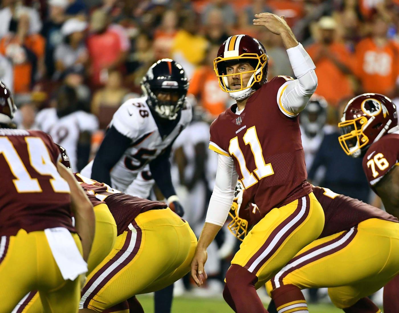 Alex Smith Redskins Broncos Preseason 2018