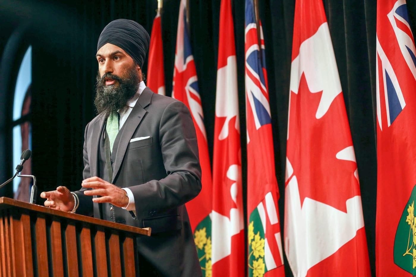 Jagmeet Singh gives speech