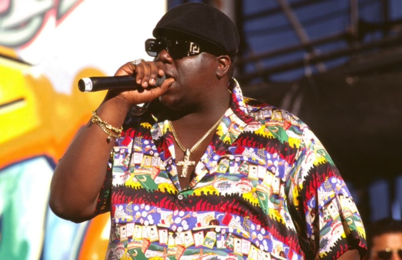 Biggie performs.