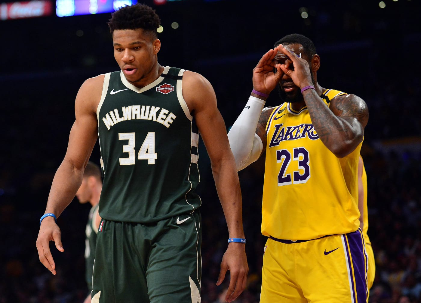 Giannis Antetokounmpo LeBron James Bucks Lakers LA 2020