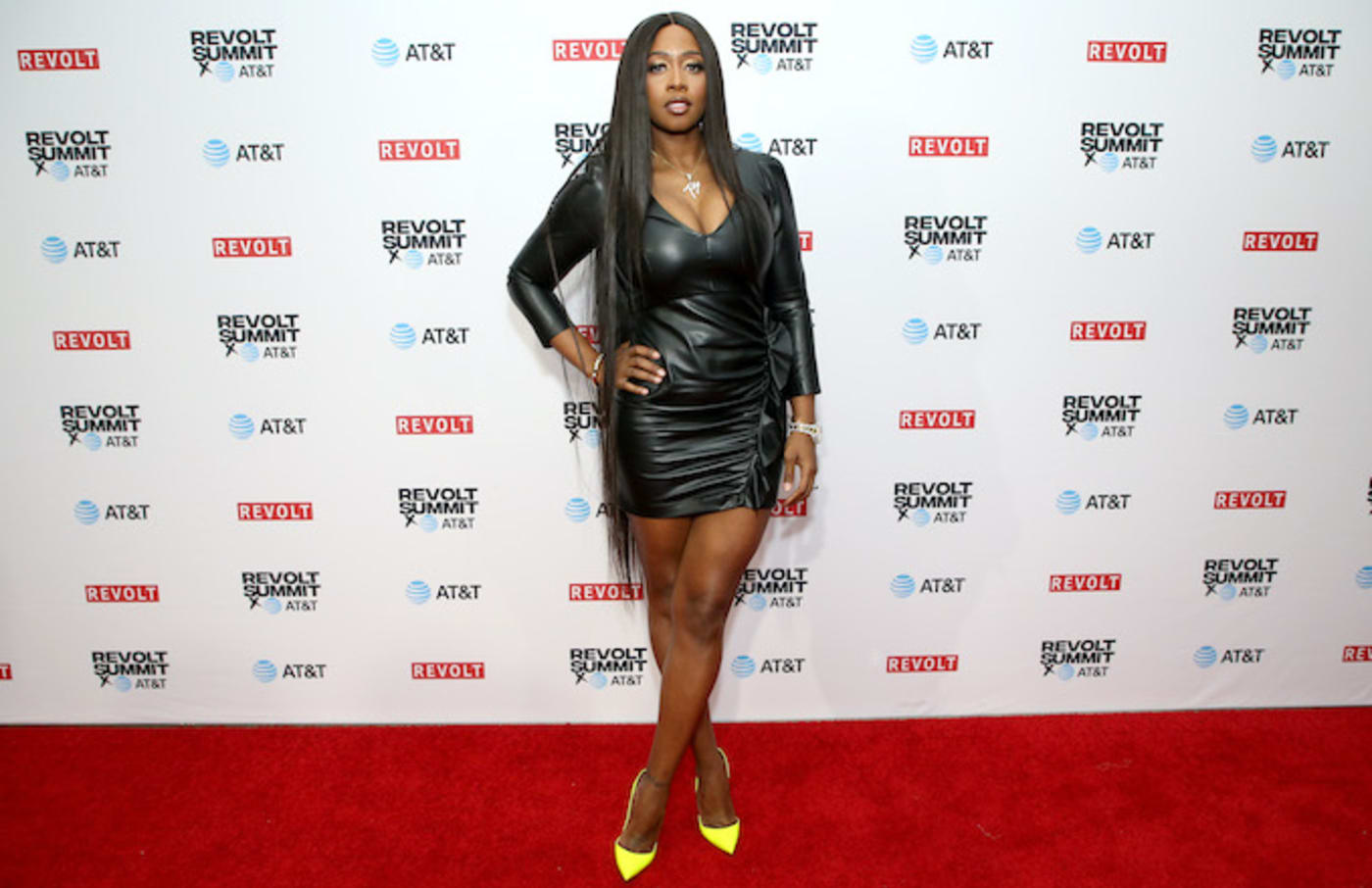 Remy Ma attends the REVOLT X AT&T.