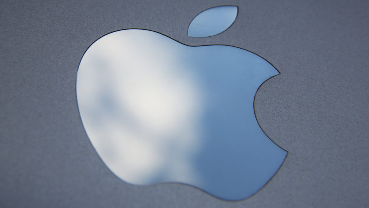 In this photo illustration the logo on an Apple iPad is seen.