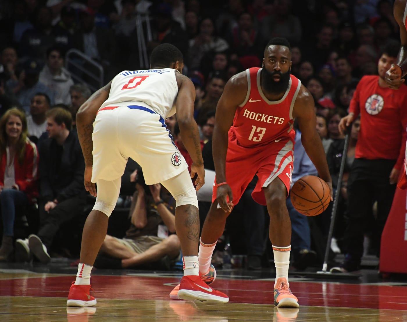 James Harden Clippers Rockets Feb. 2018