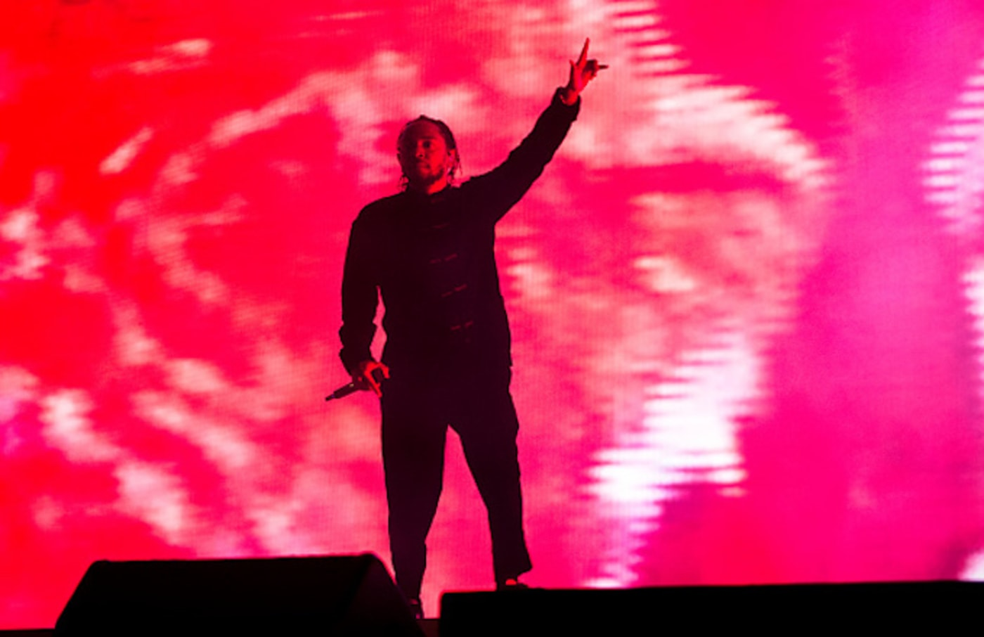 Kendrick Lamar performs on the Coachella Stage during day 3 (Weekend 2)