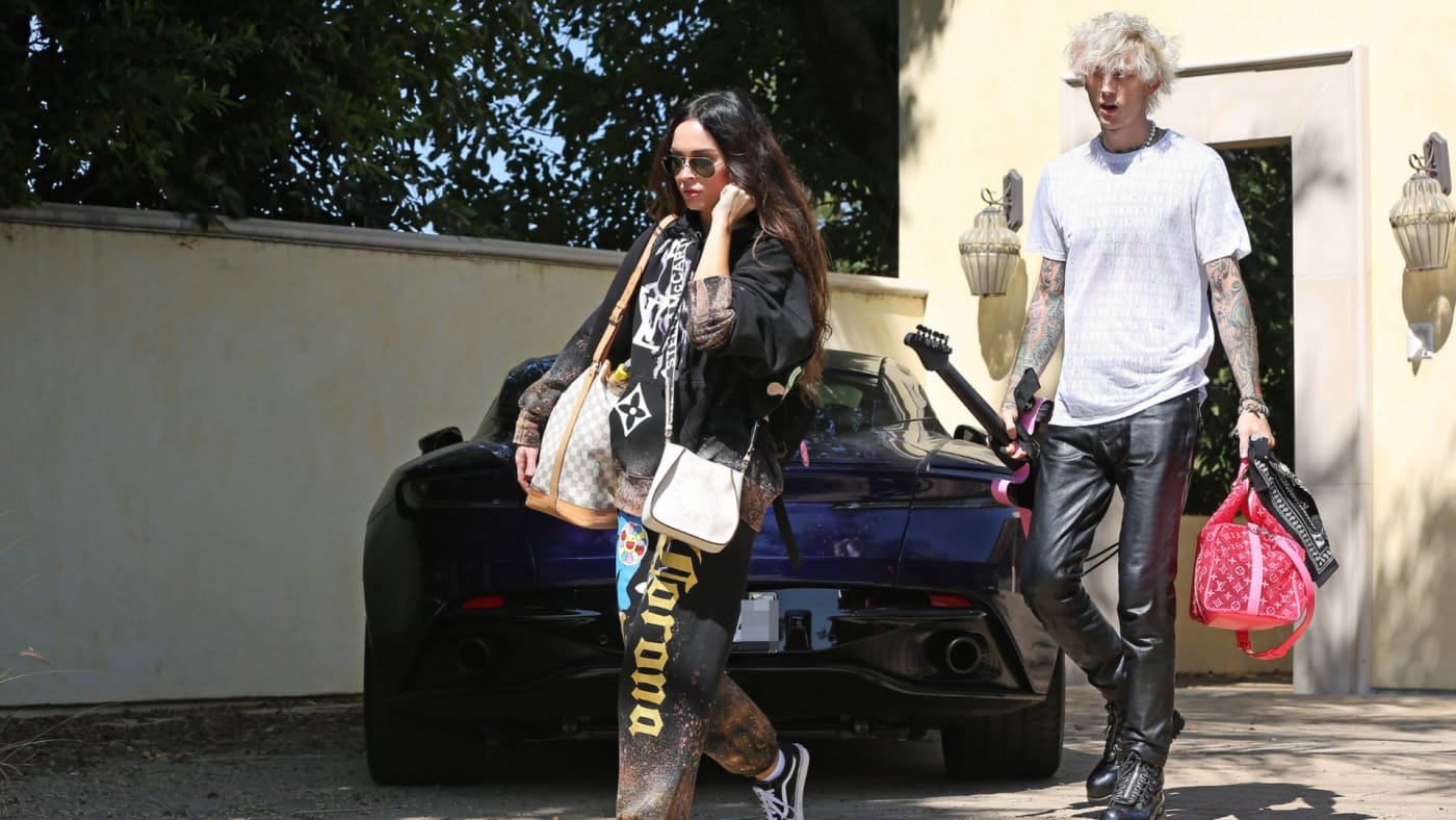 Megan Fox and Machine Gun Kelly are seen on September 25, 2020 in Los Angeles.