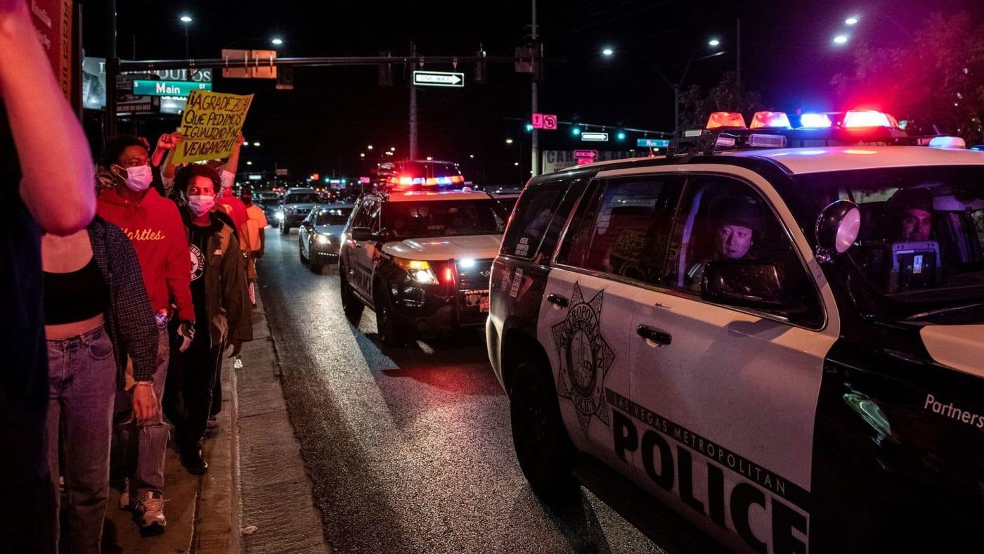 vegas police protest