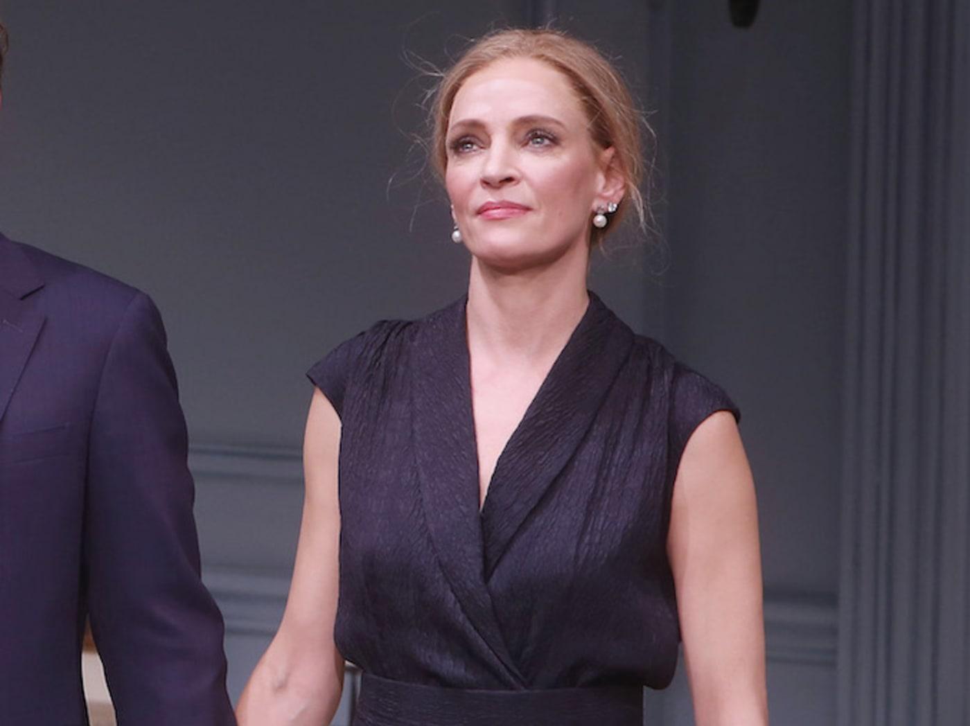 Uma Thurman at the Opening Night curtain call for 'The Parisian Woman.'