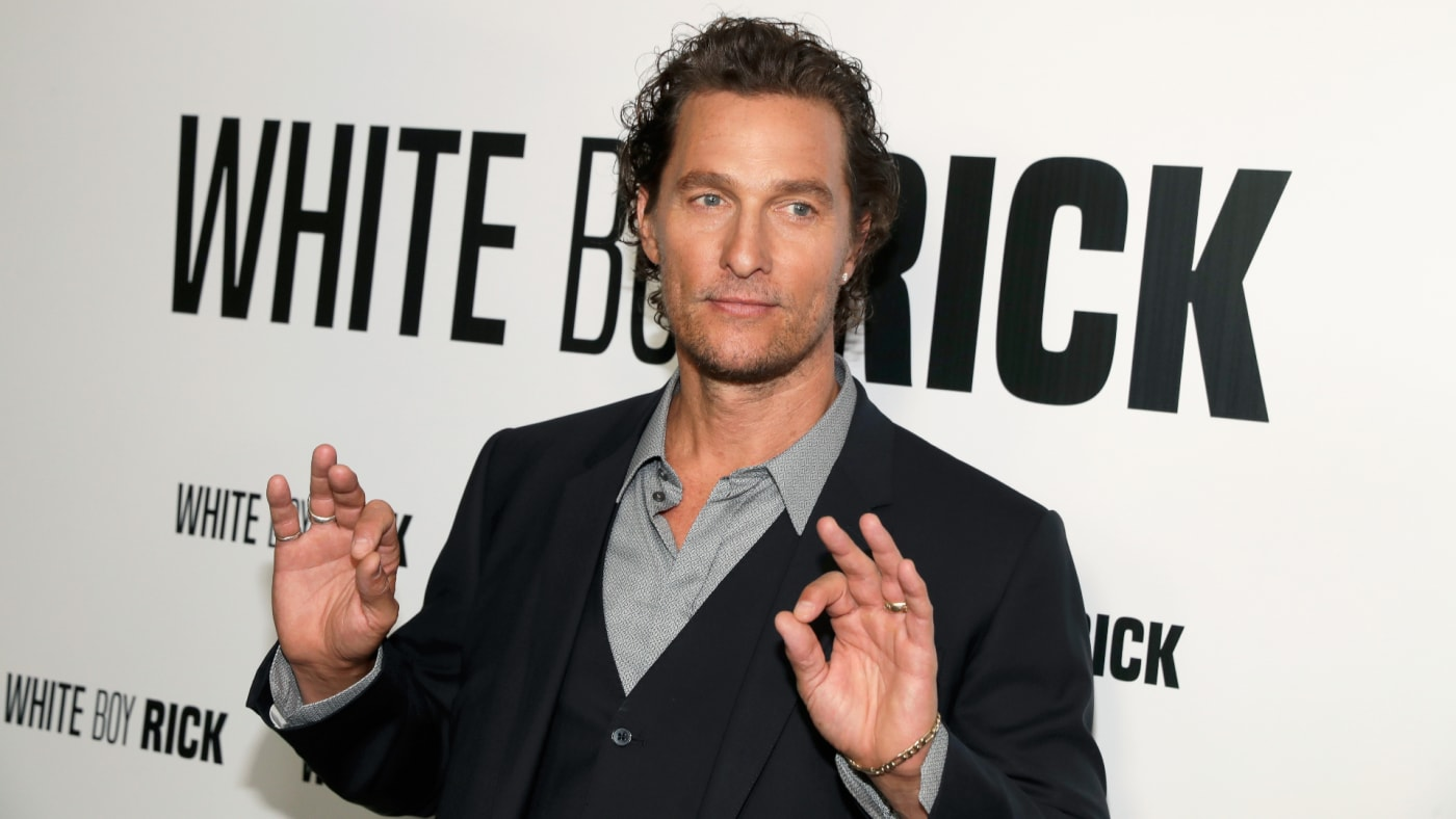 Matthew McConaughey attends the CinemaCon 2018 Gala Opening Night Event.