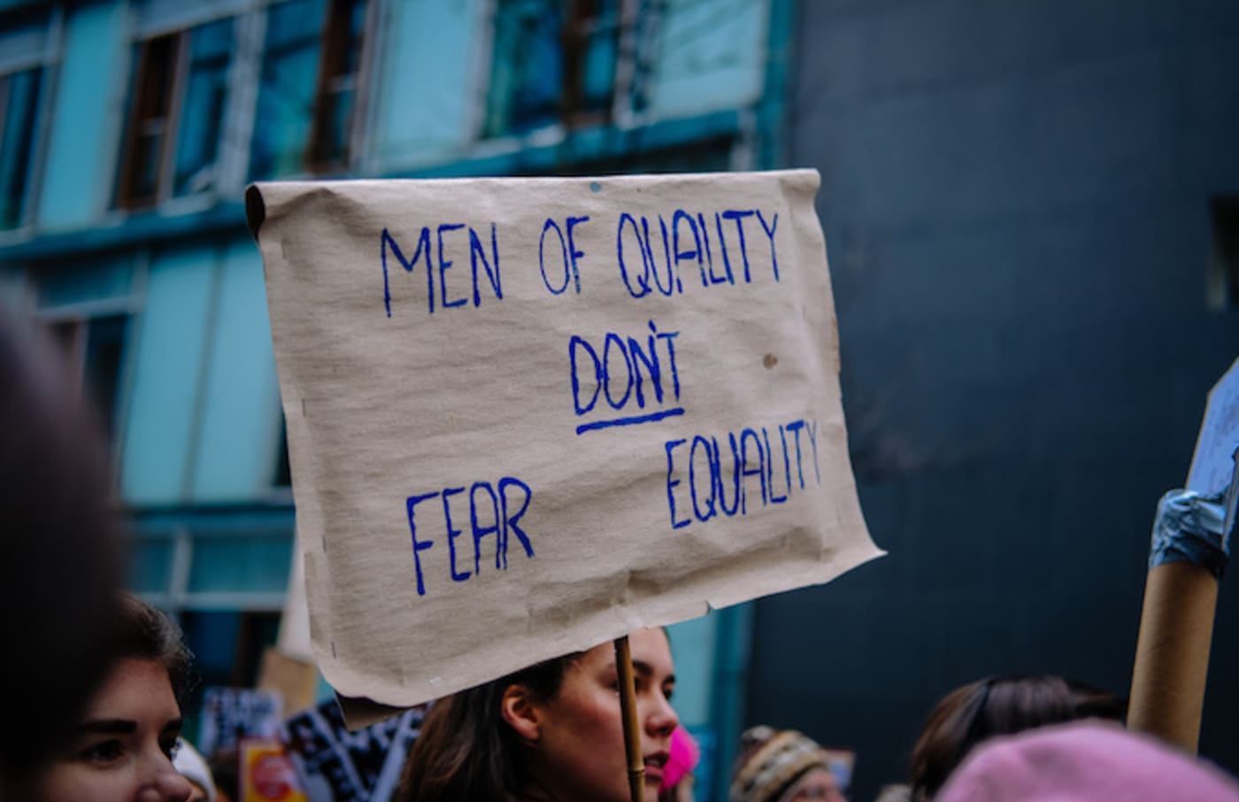 Feminist protest sign