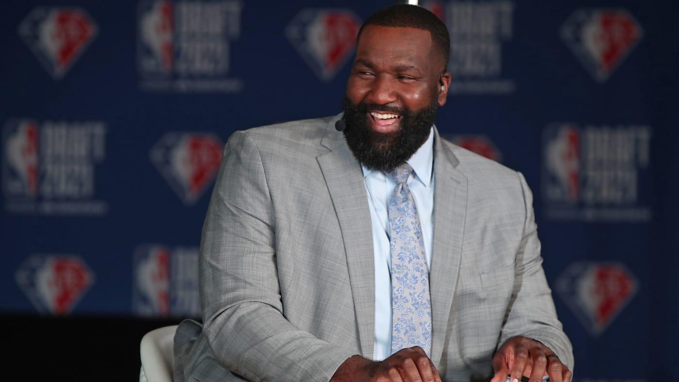 Kendrick Perkins during the 2021 NBA Draft