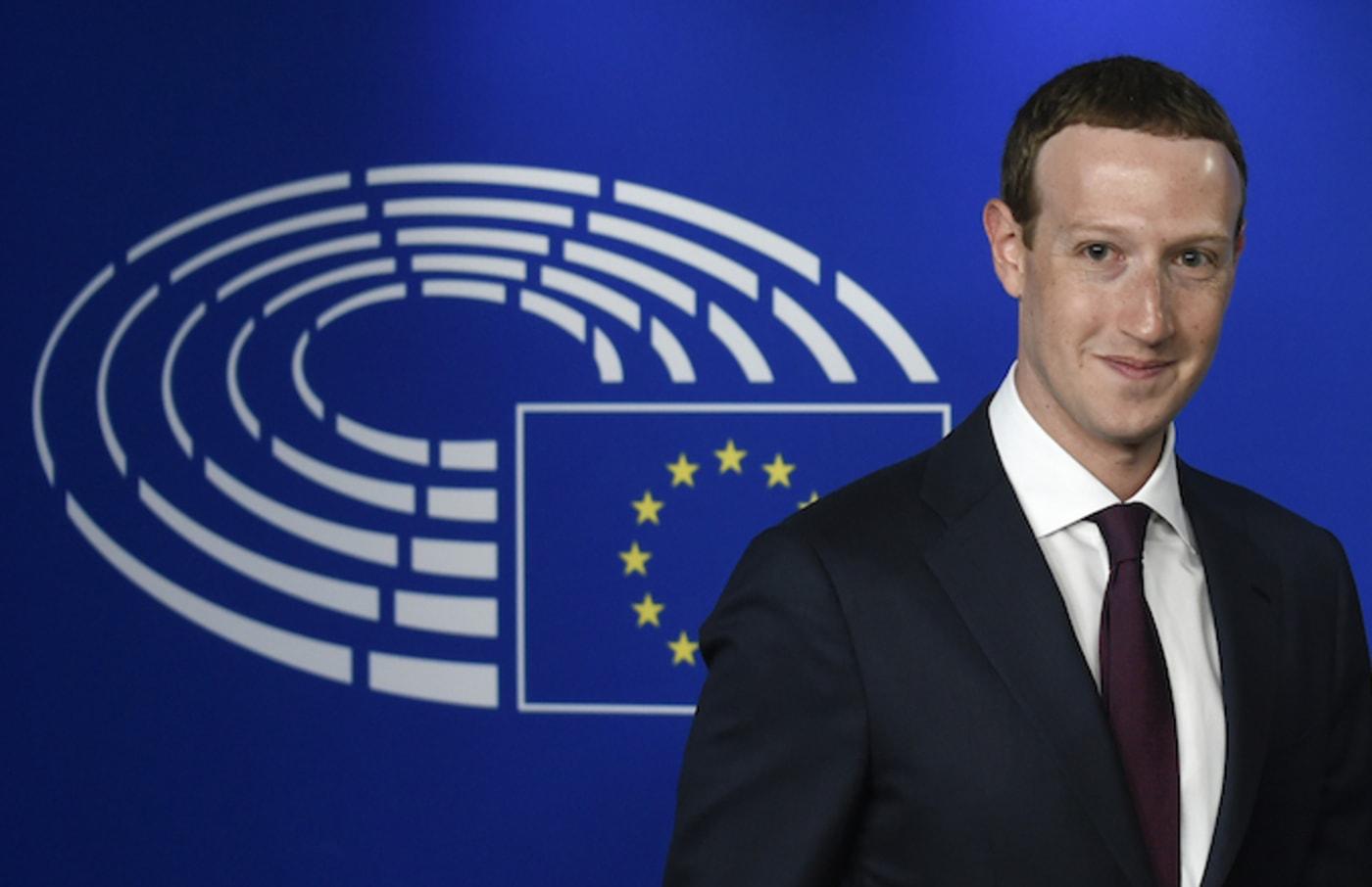 Mark Zuckerberg arrives at the European Parliament.