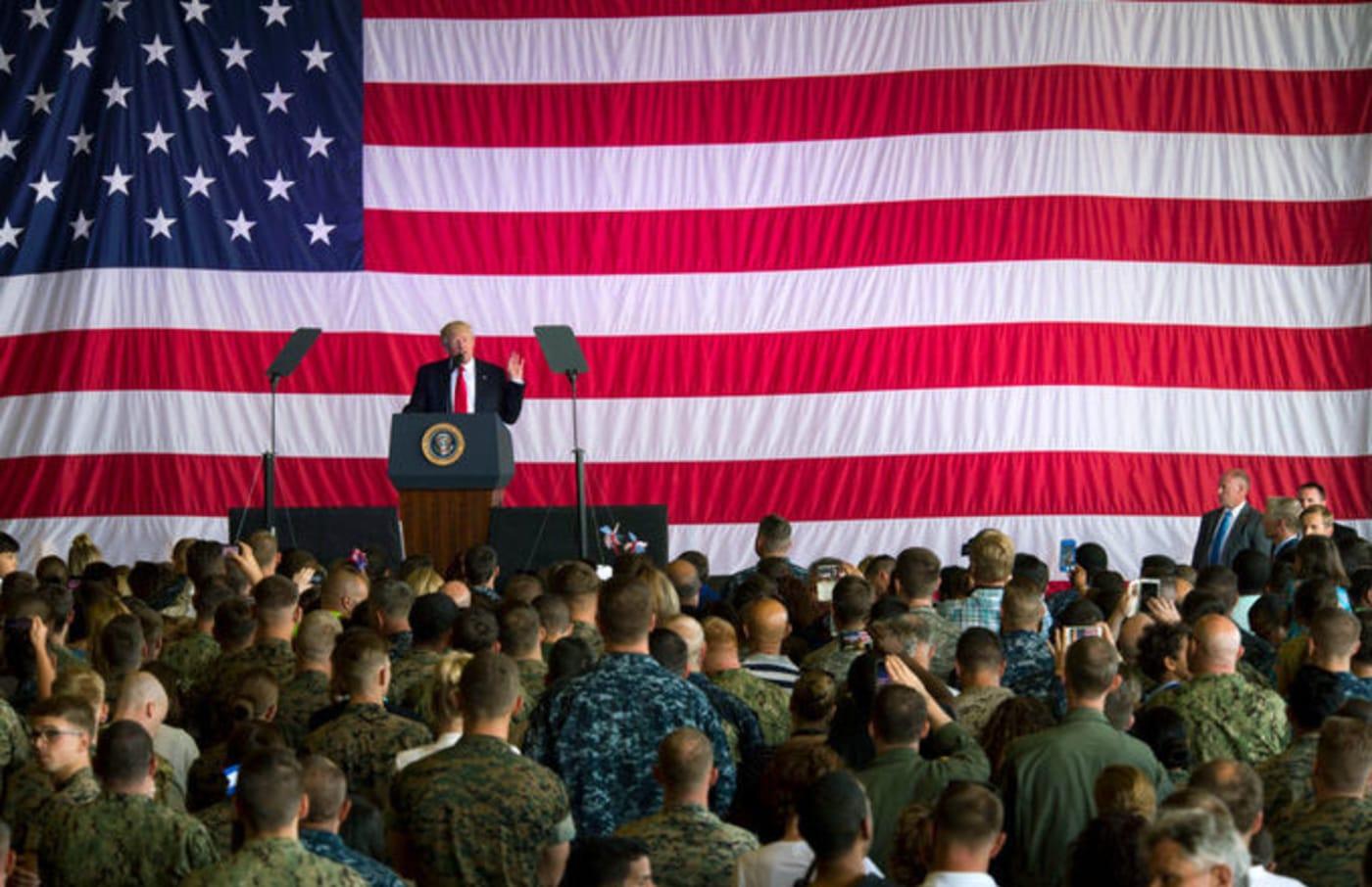 president trump military
