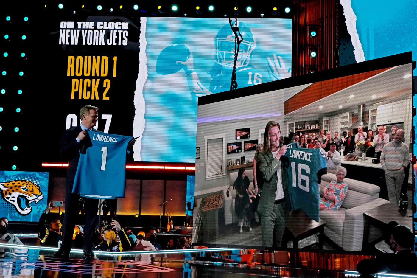 Roger Goodell Trevor Lawrence NFL Draft 2021