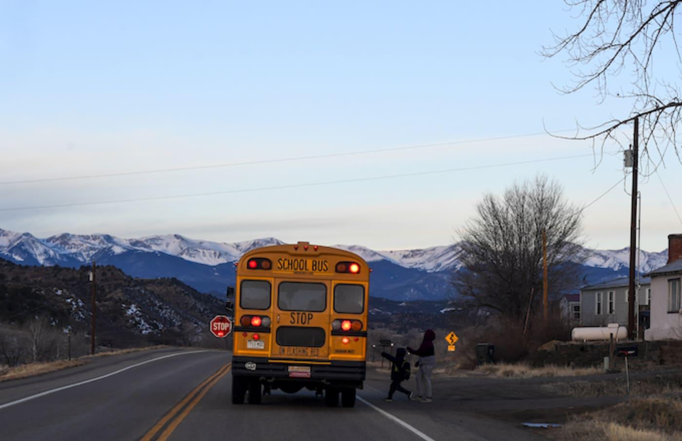 school bus driver leaves kids