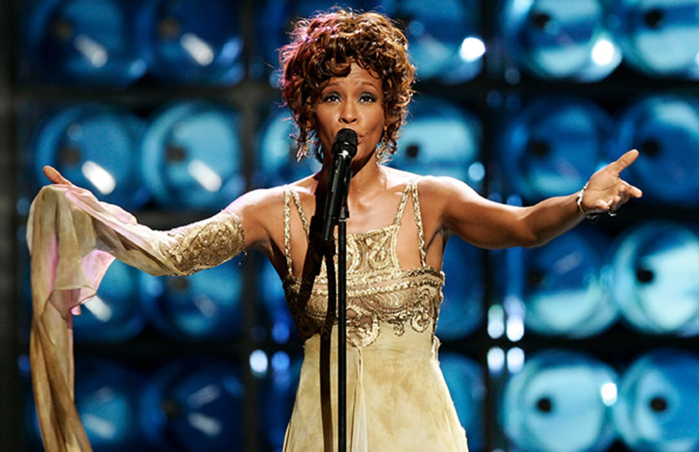 This is a phot of Whitney Houston.