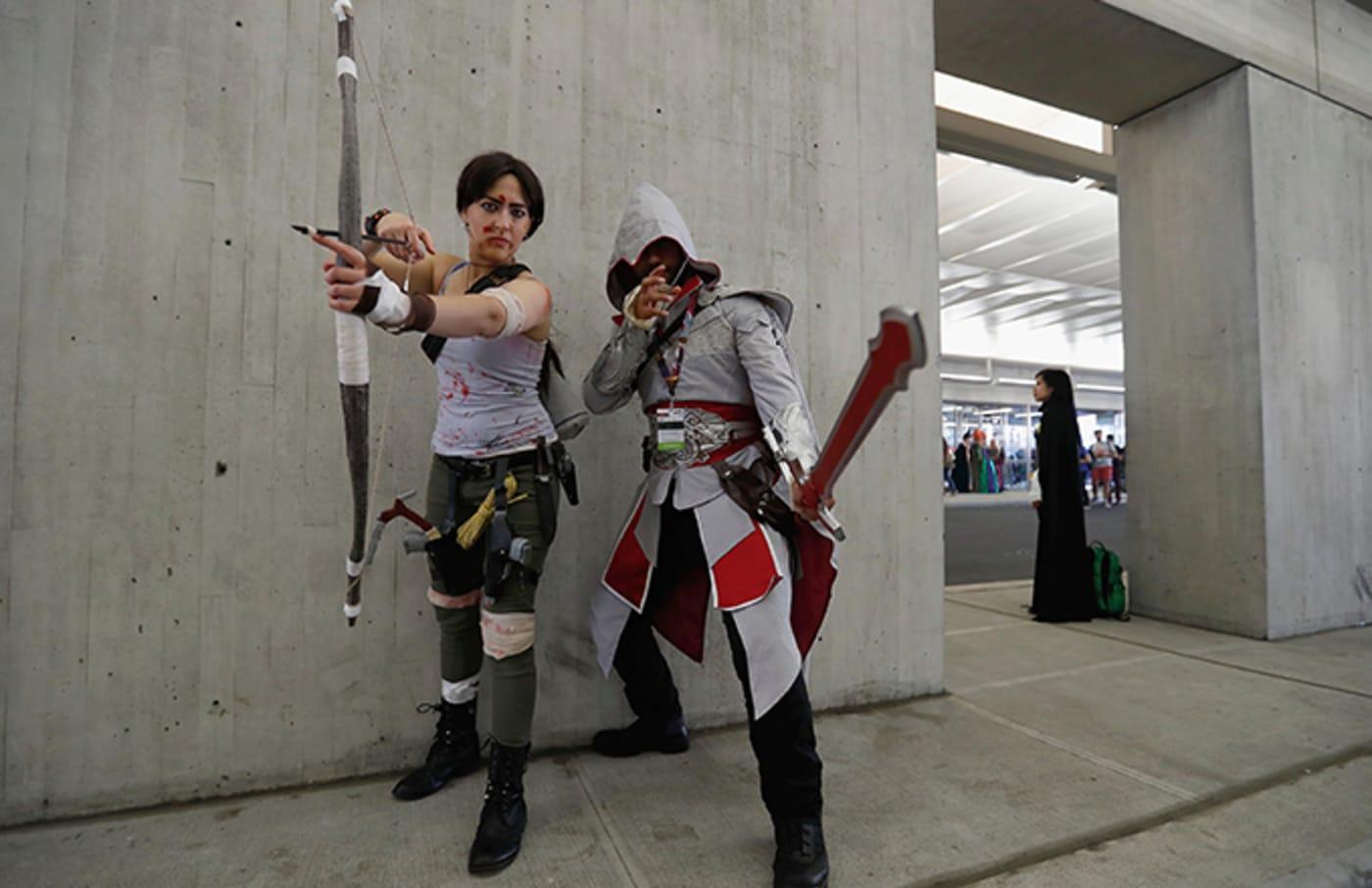 Lara Croft and Ezio