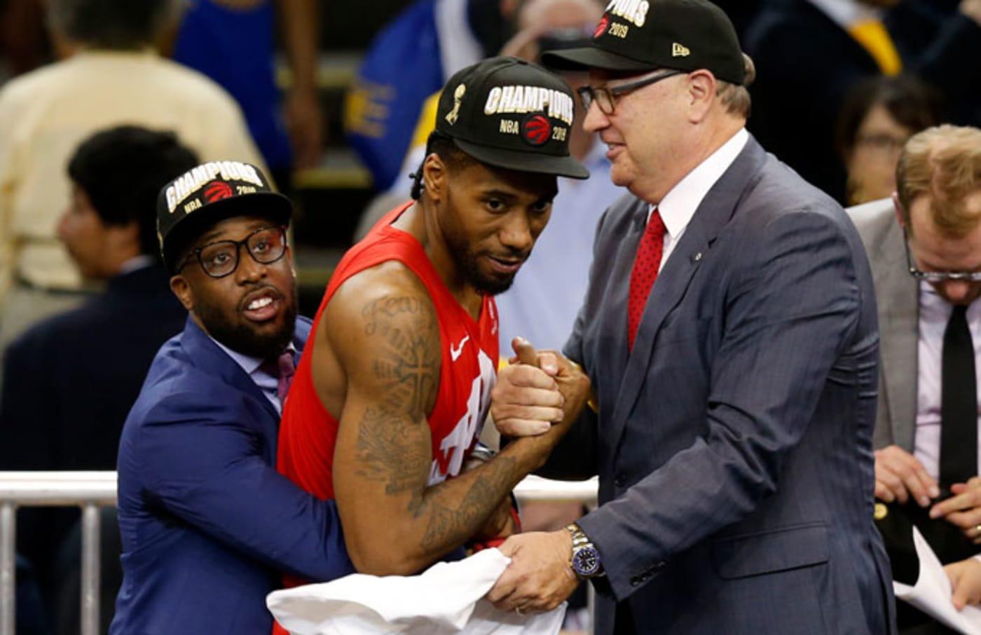 Kawhi Leonard after the Raptors won it all.